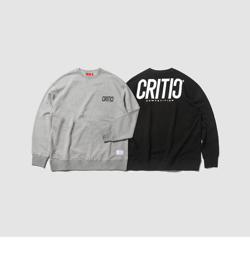 크리틱(CRITIC) BACKSIDE LOGO SWEAT SHIRT(GRAY)_CTOEICR02UC4