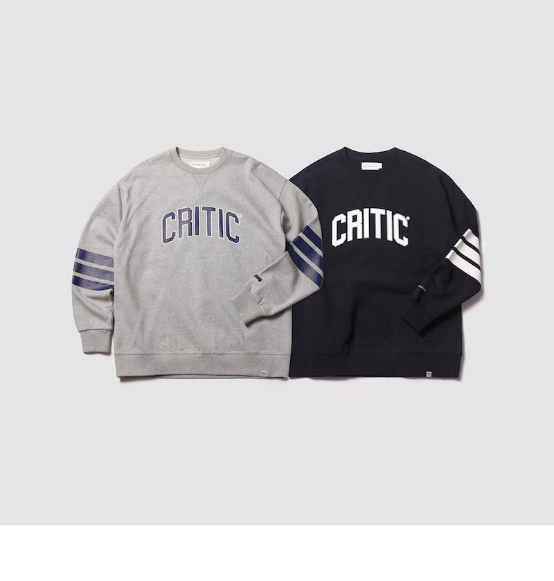 크리틱(CRITIC) MFG STRIPES SWEAT SHIRT(GRAY)_CMOEICR31UC4