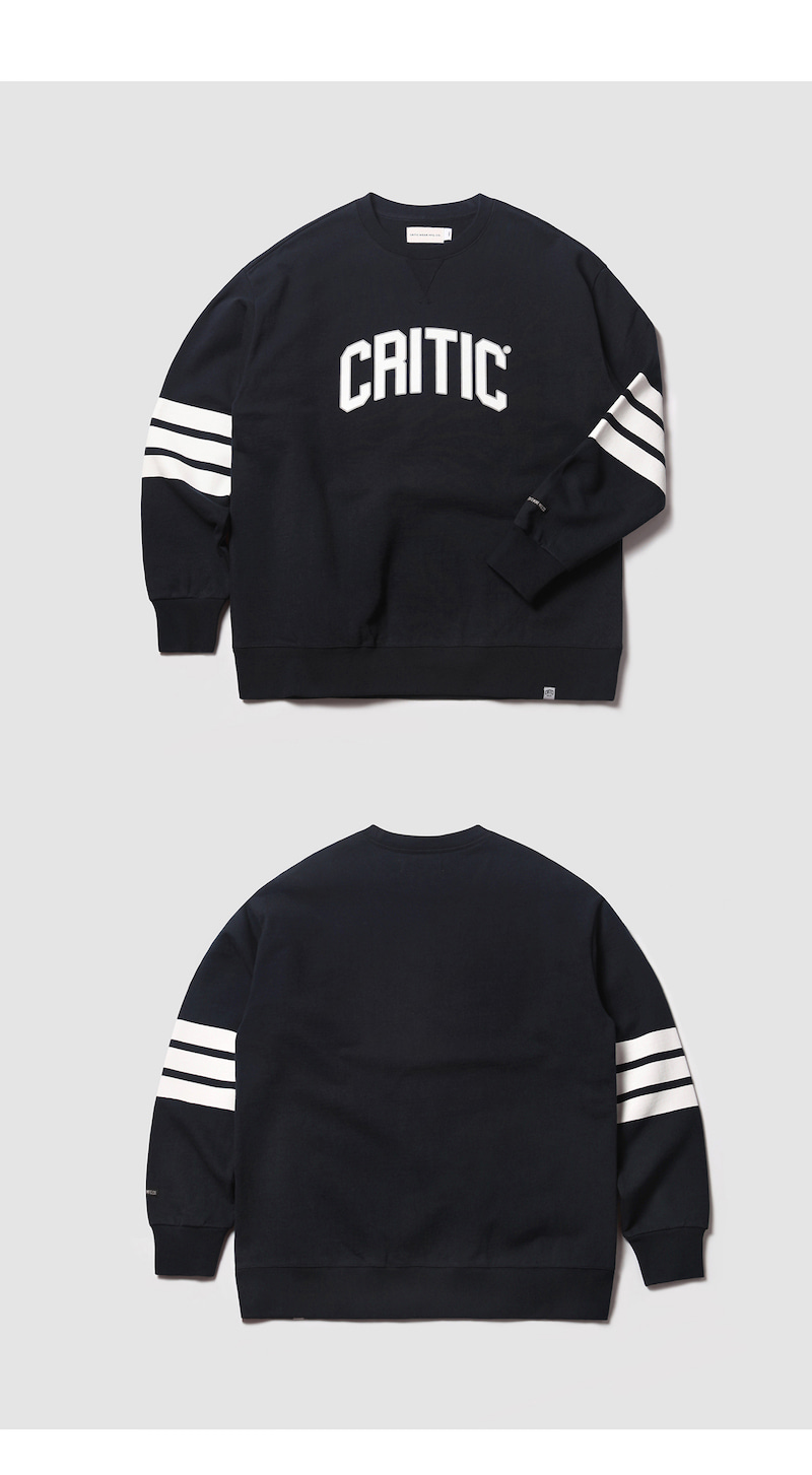 크리틱(CRITIC) MFG STRIPES SWEAT SHIRT(NAVY)_CMOEICR31UN0