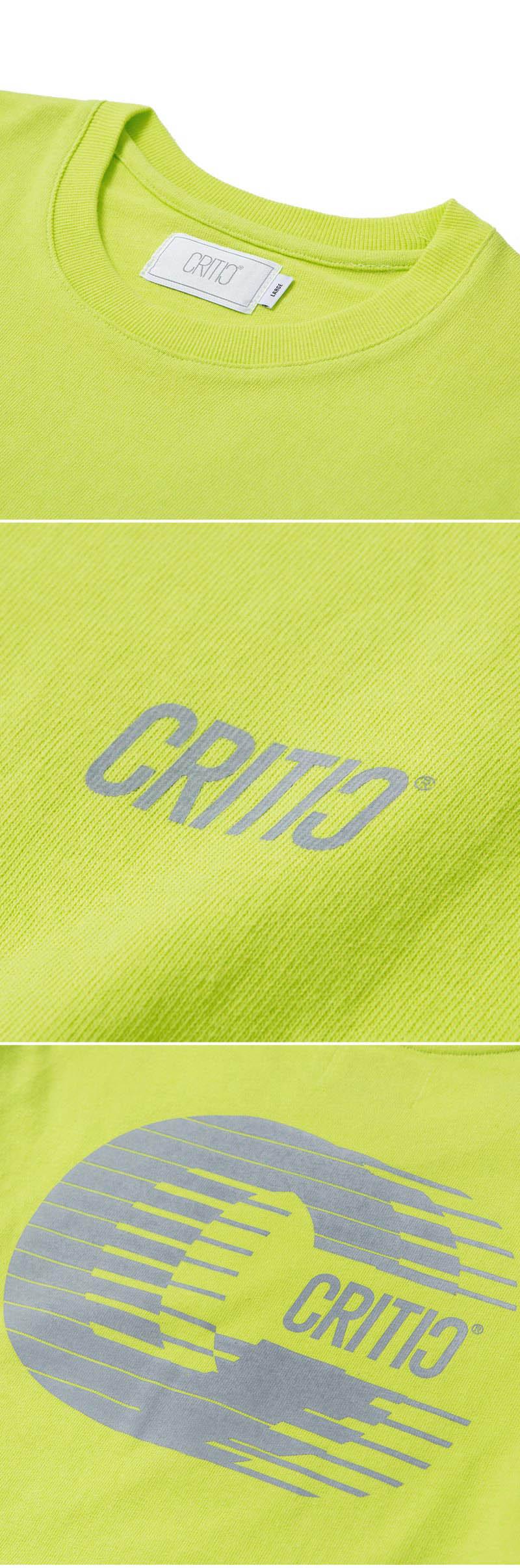 크리틱(CRITIC) REFLECTIVE C LONG SLEEVE T-SHIRT(NEON YELLOW)_CTOGARL05UY3