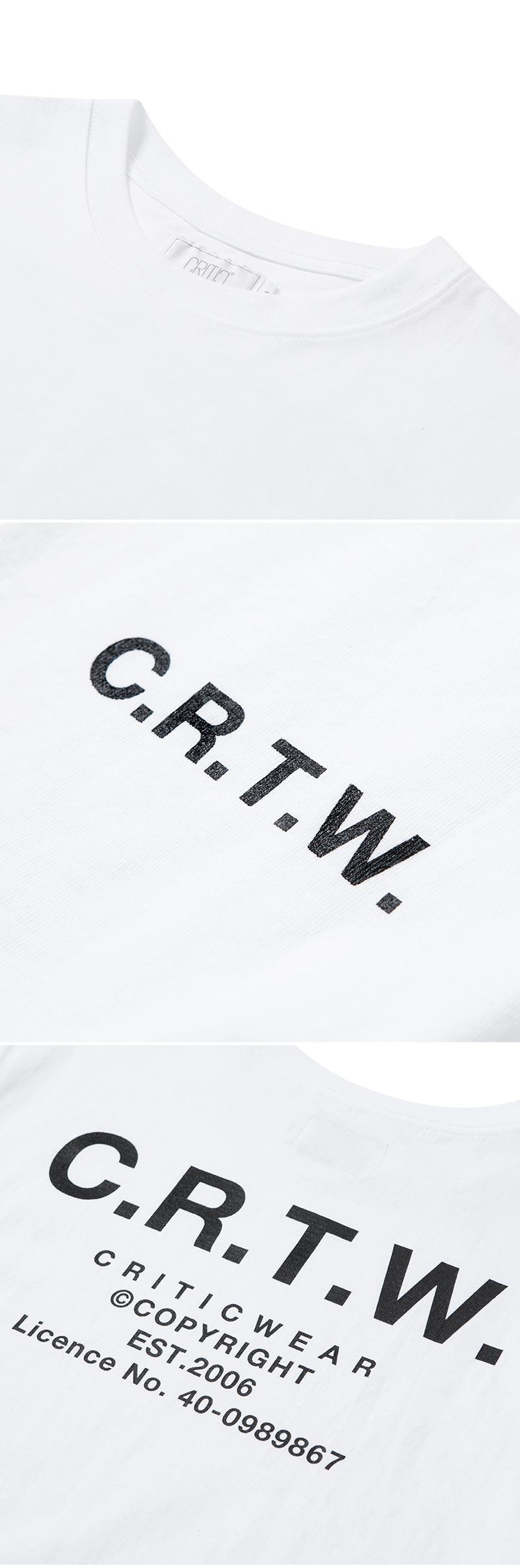 크리틱(CRITIC) C.R.T.W T-SHIRT(WHITE)_CTOGURS06UC2