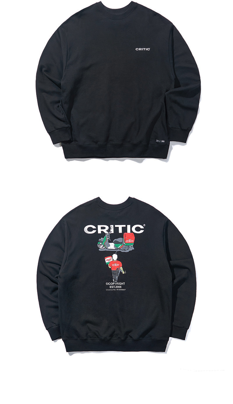DELIVERY CHICKEN KILLER SWEATSHIRT(BLACK)_CTONACR01UC6