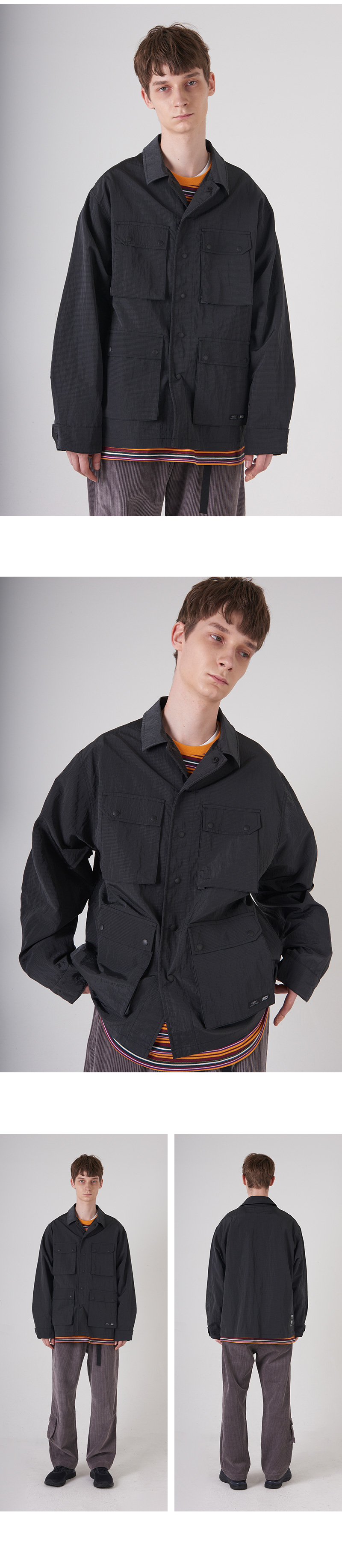 POLY RIBSTOP FATIGUE JACKET(DARK BLUE)_CTONAJK01UB5