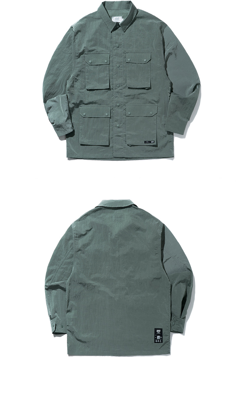 POLY RIBSTOP FATIGUE JACKET(L/MINT)_CTONAJK01UG5