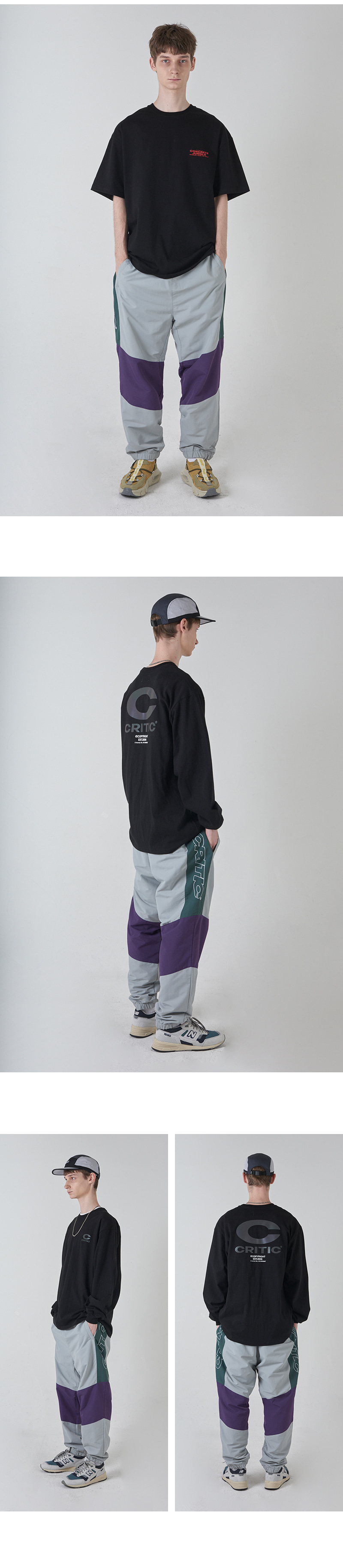 SIDE LOGO TRACK PANTS(GRAY)_CTONAPT01UC0