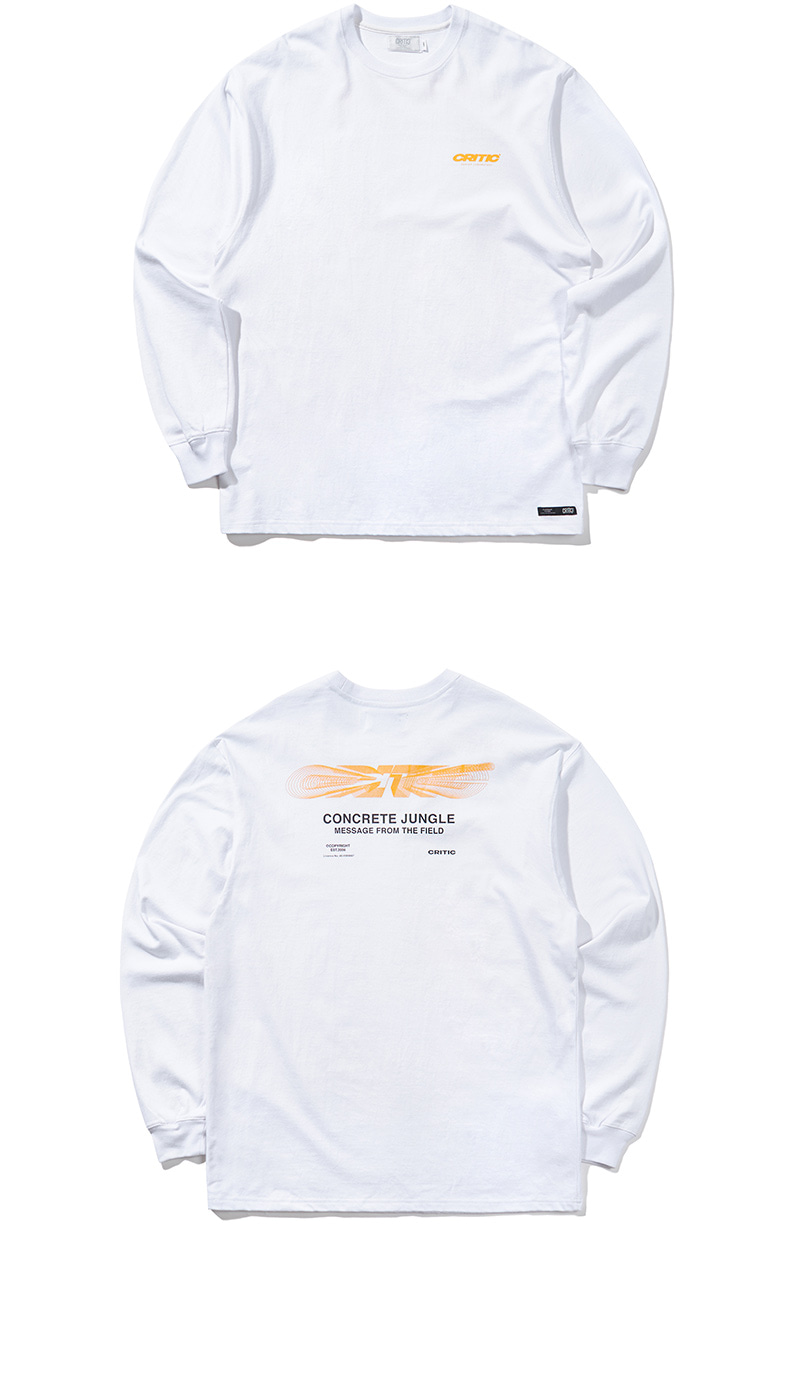 BLEND LOGO LONG SLEEVE T-SHIRT(WHITE)_CTONARL01UC2
