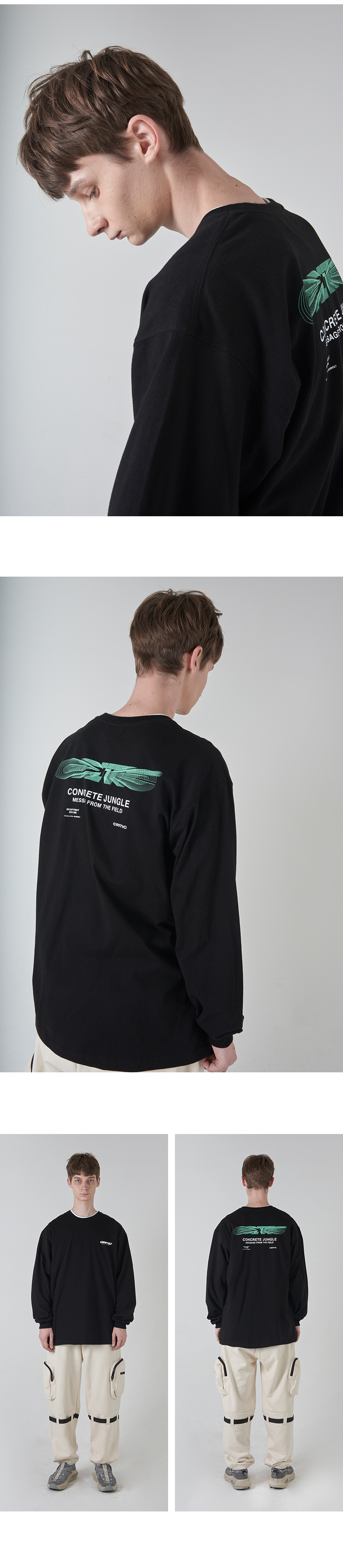 BLEND LOGO LONG SLEEVE T-SHIRT(BLACK)_CTONARL01UC6