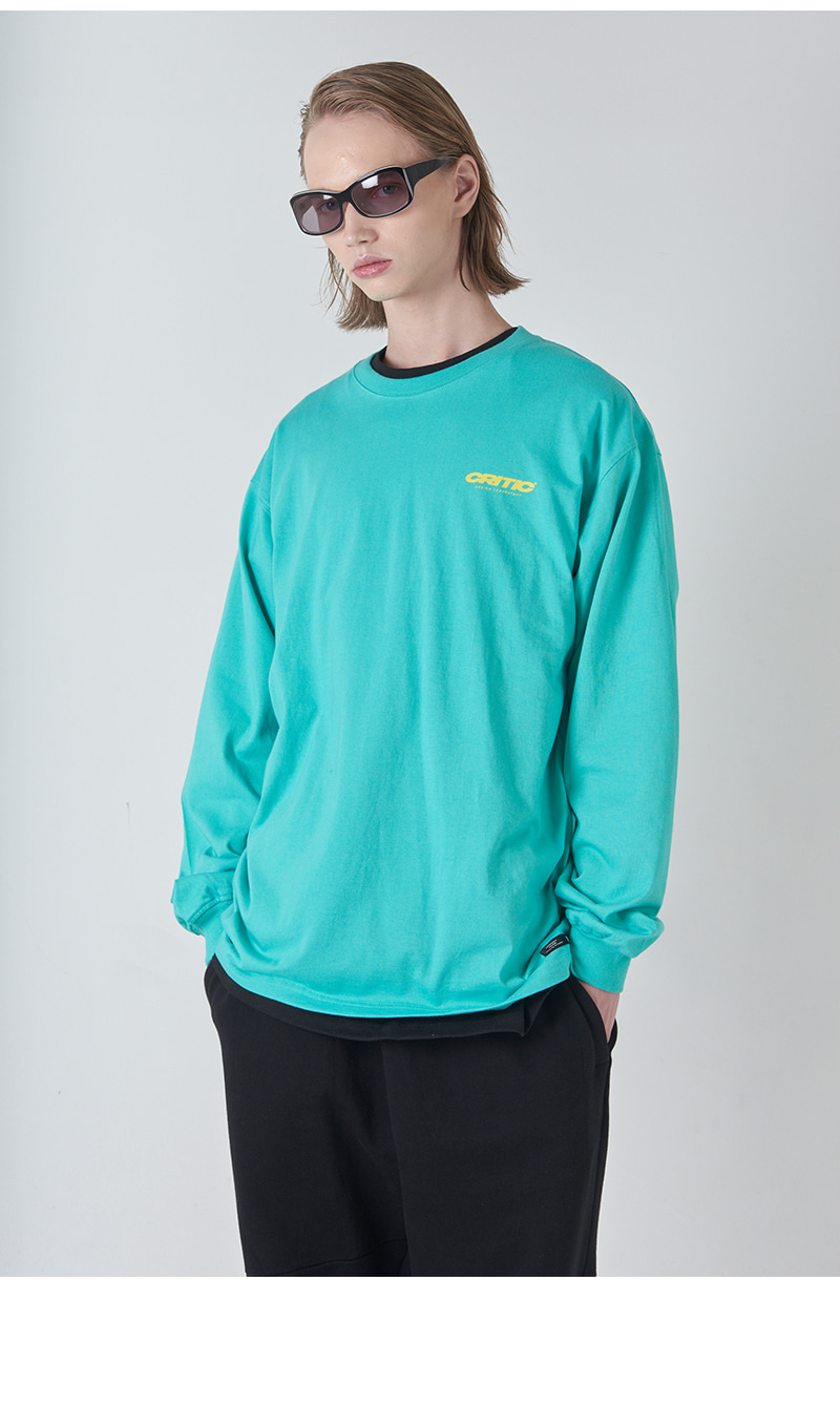 BLEND LOGO LONG SLEEVE T-SHIRT(MINT)_CTONARL01UG3