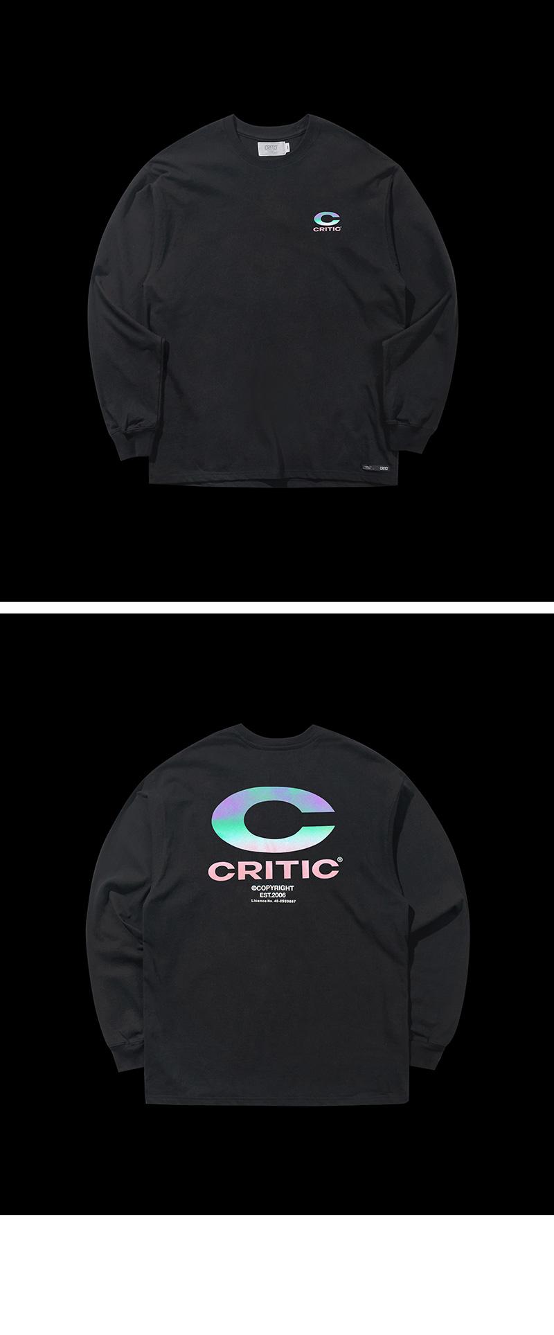 REFLECTIVE BIG C LOGO LONG SLEEVE T-SHIRT(BLACK)_CTONARL02UC6