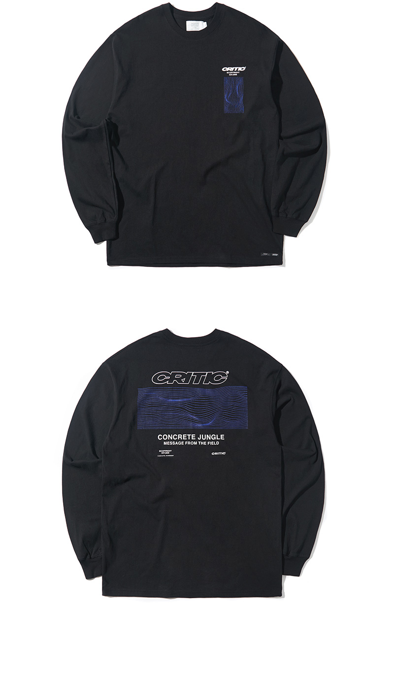 WAVE GRAPHIC LONG SLEEVE T-SHIRT(BLACK)_CTONARL03UC6