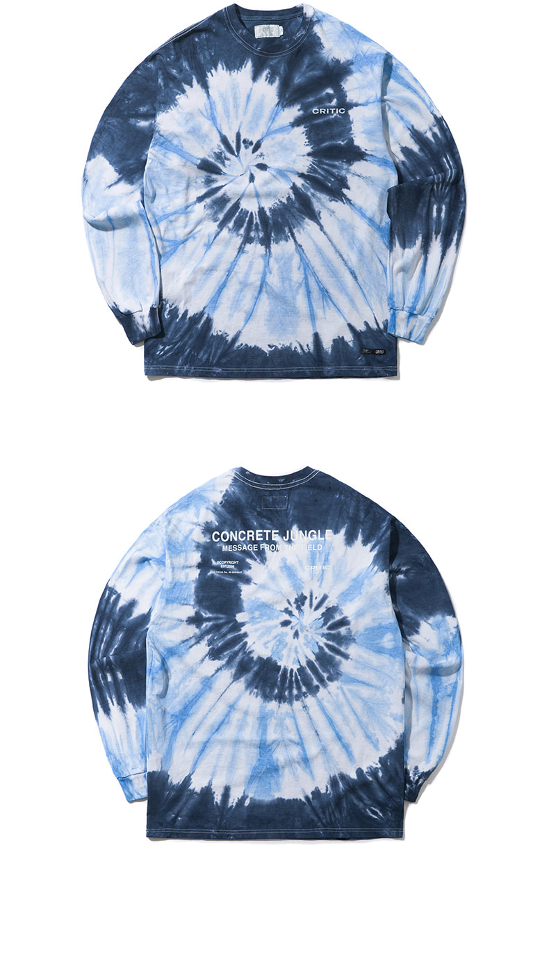 TIEDYE BACKSIDE LOGO LONG SLEEVE T-SHIRT(DEEP BLUE)_CTONARL04UB6