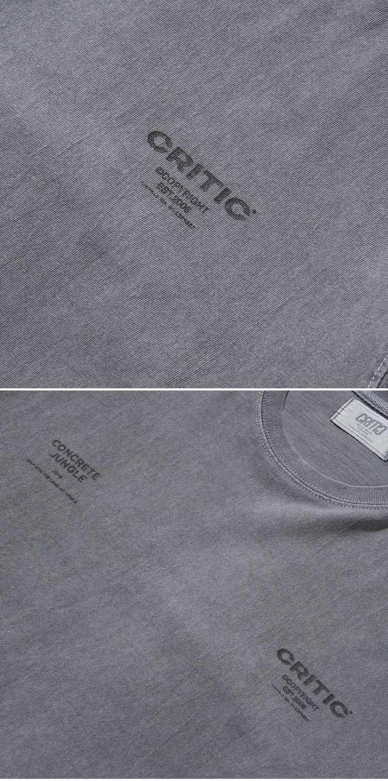 PIGMENT LOGO  LONG SLEEVE T-SHIRT(CHARCOAL)_CTONARL06UC1
