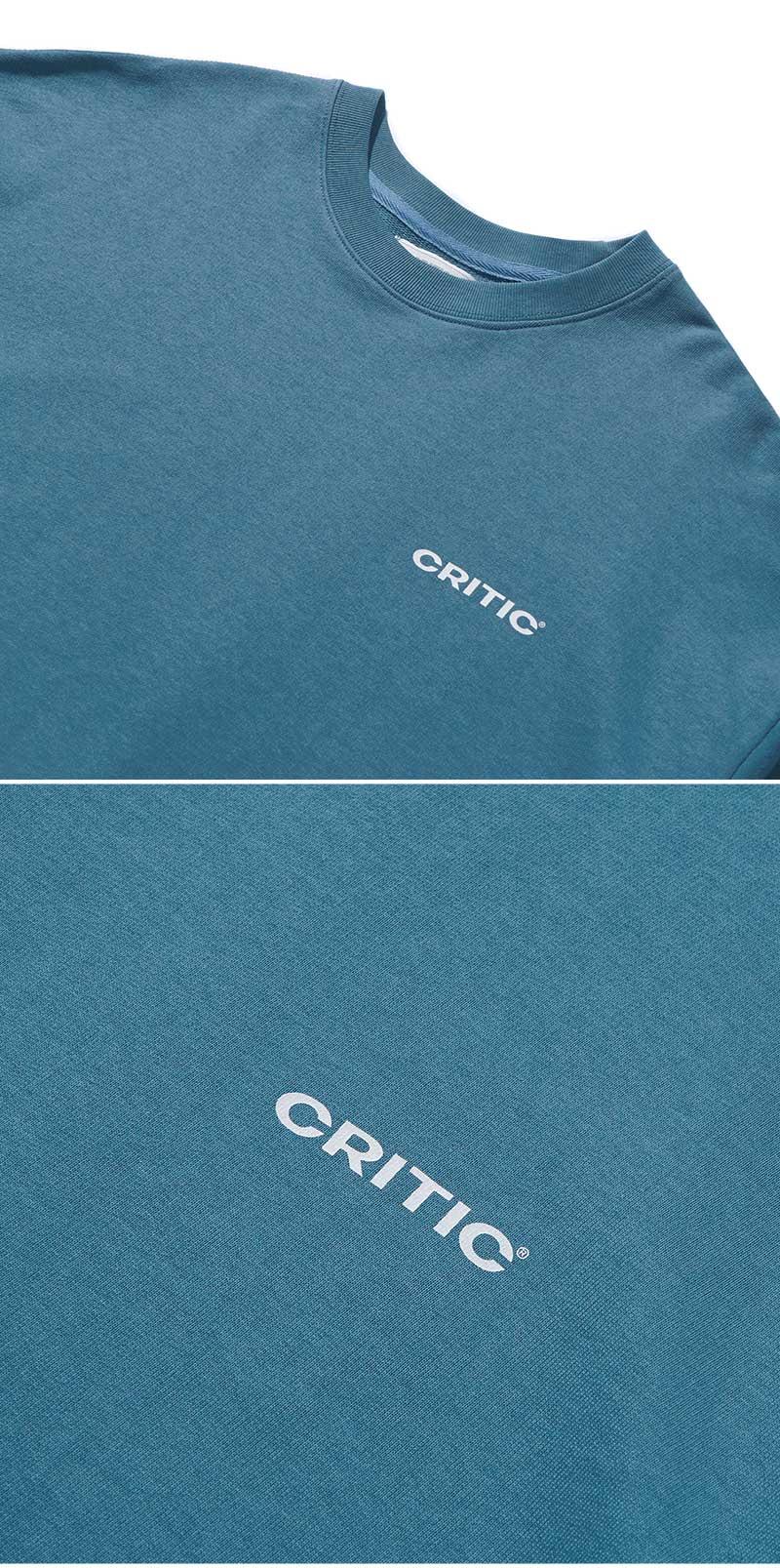 BACKSIDE LOGO SWEATSHIRT(BLUE GREEN)_CTONICR03UB7