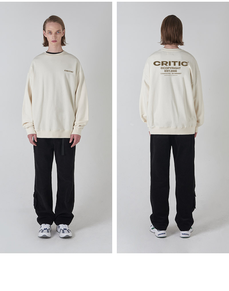 BACKSIDE LOGO SWEATSHIRT(CREAM)_CTONICR03UY5