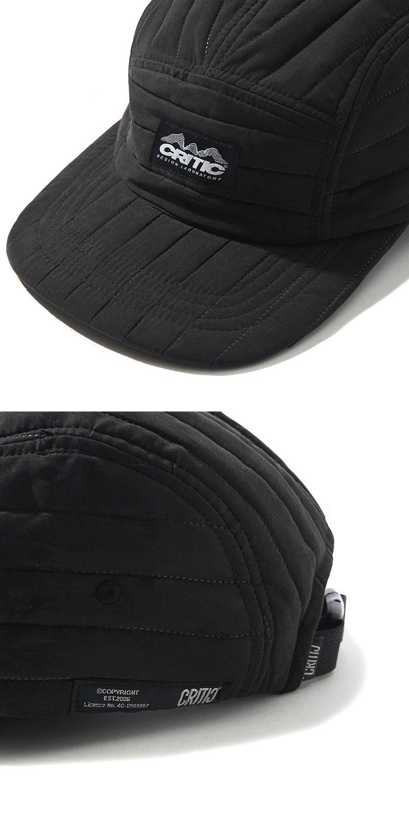 QUILTED CAMP CAP(BLACK)_CTONAHW03UC6