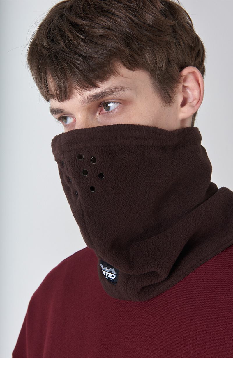 FLEECE NECK WARMER(BROWN)_CTONIAC01UE3