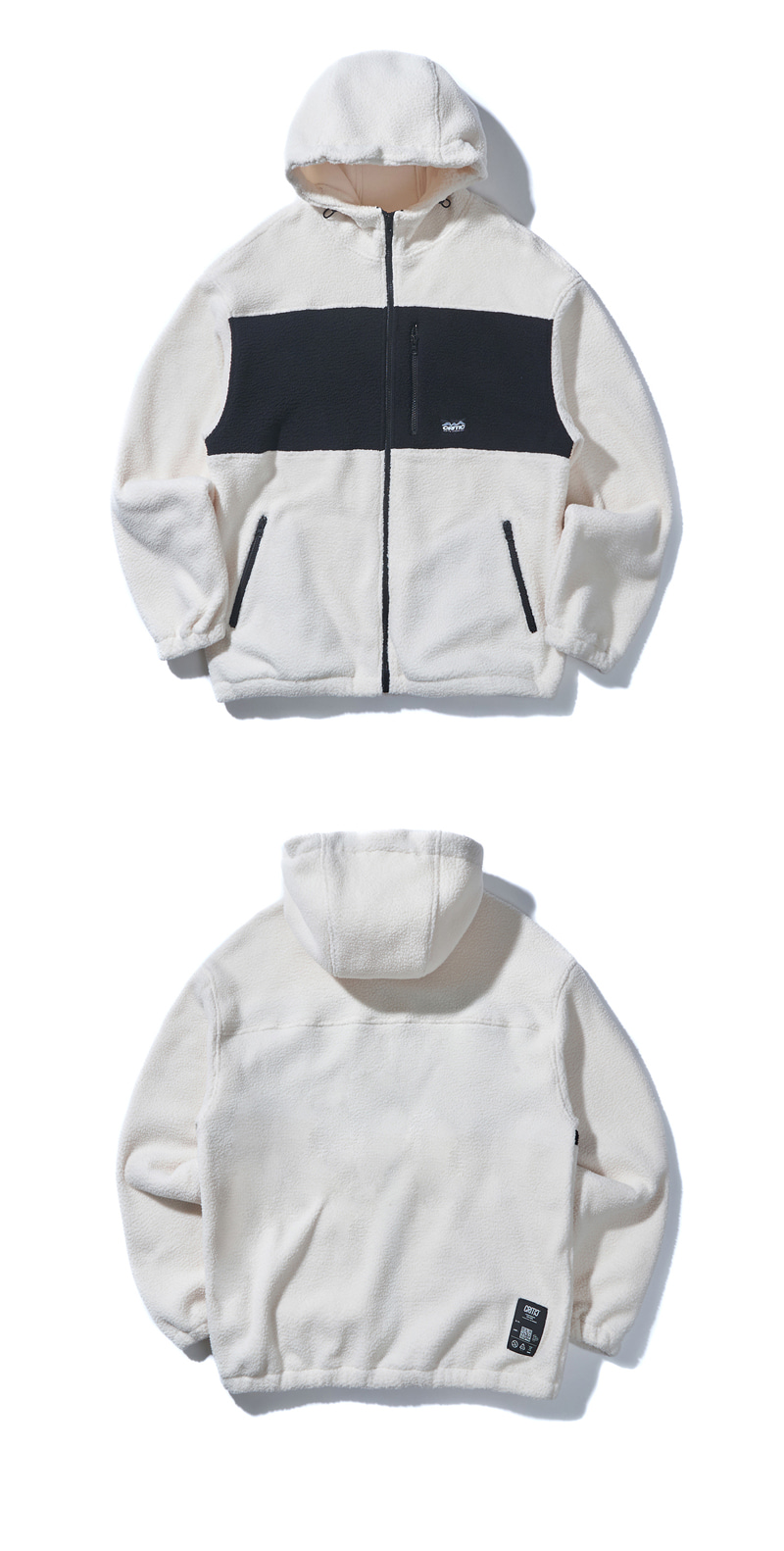 HOODED FLEECE JACKET(CREAM)_CTONIJK02UY5