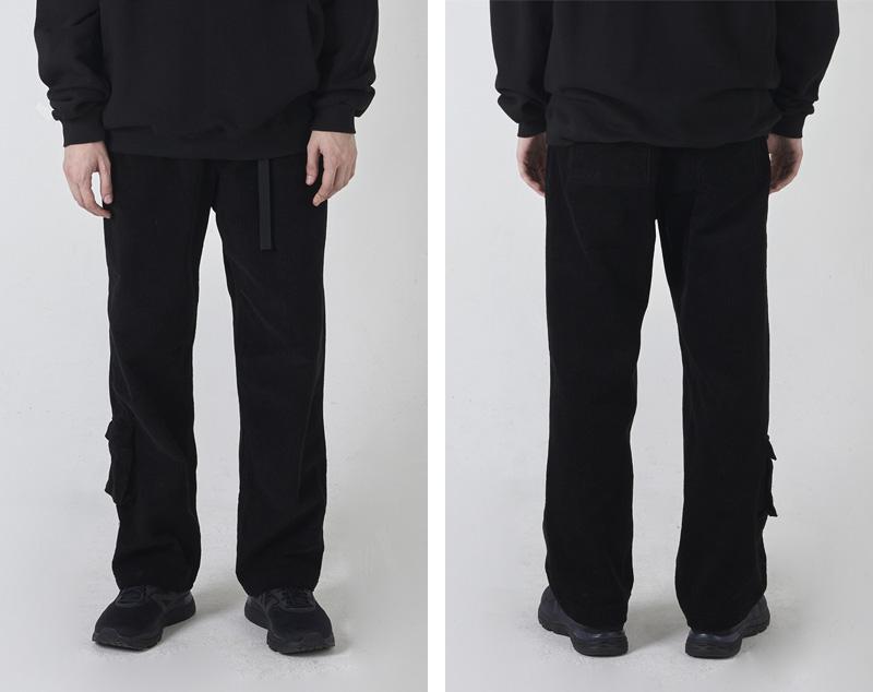 CORDUROY EASY PANTS(BLACK)_CTONIPT04UC6