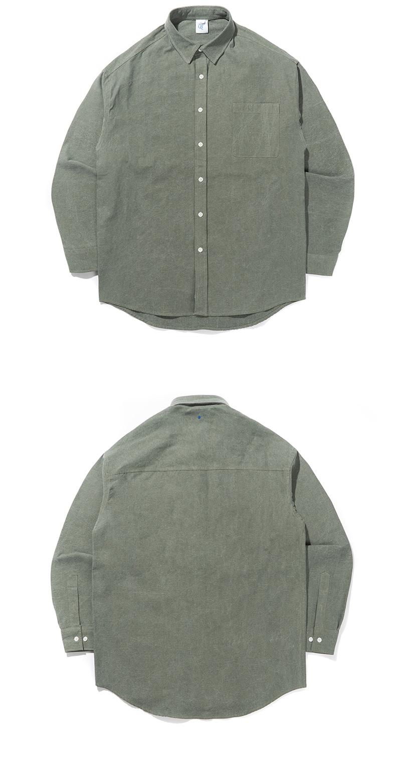 CRT PIGMENT SHIRT(OLIVE GREEN)_CRONALS01UG4