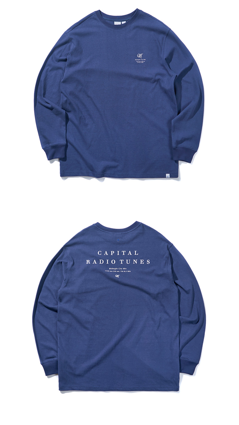 CRT LONG SLEEVE T-SHIRT(DARK BLUE)_CRONARL01UB5