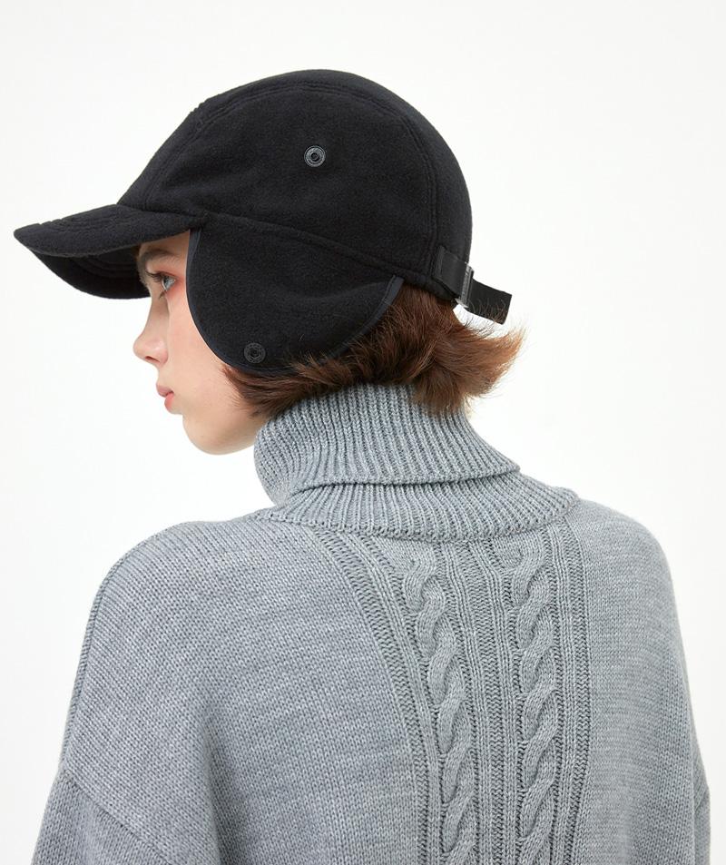 CRT FLEECE CAMP CAP(BLACK)_CRONIHW02UC6