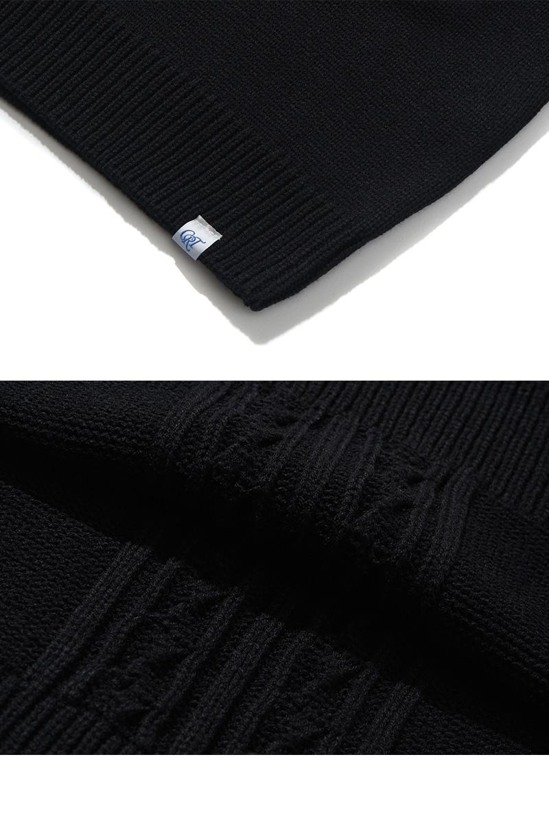 CRT HIGH NECK KNIT(BLACK)_CRONINT02UC6