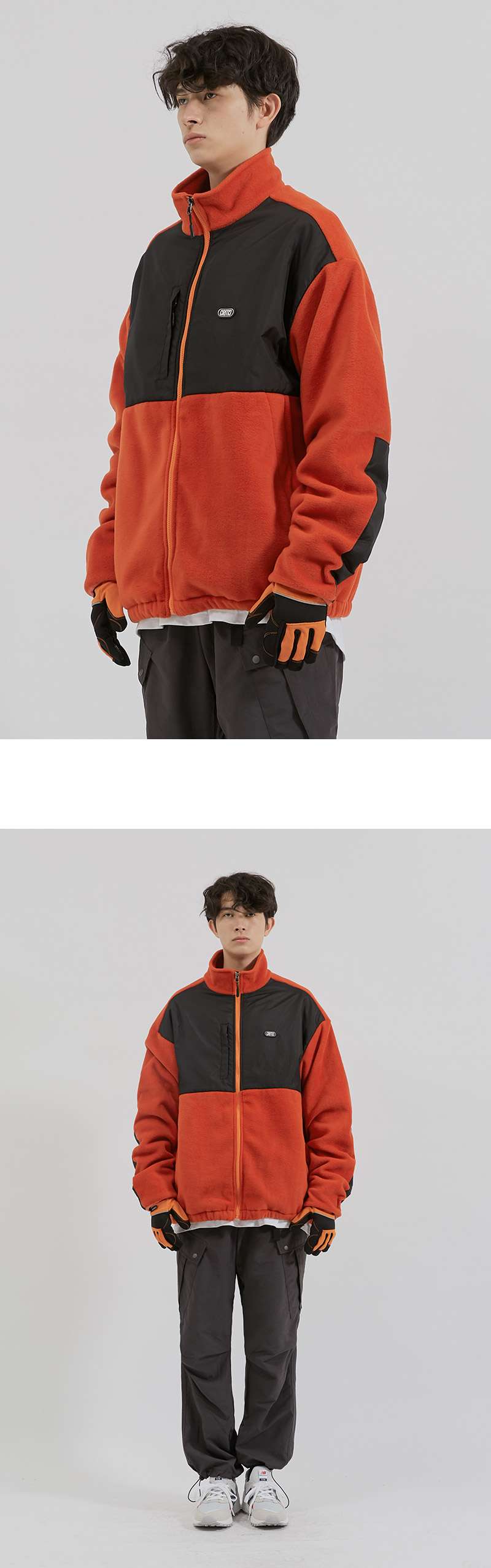 FLEECE ZIP-UP JACKET(ORANGE)_CTONPJK02UO0