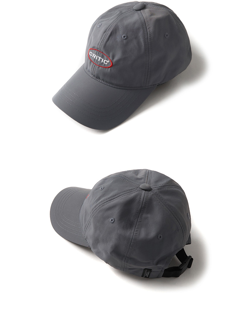 크리틱(CRITIC) OVAL LOGO BALL CAP(CHARCOAL)_CTONPHW03UC1