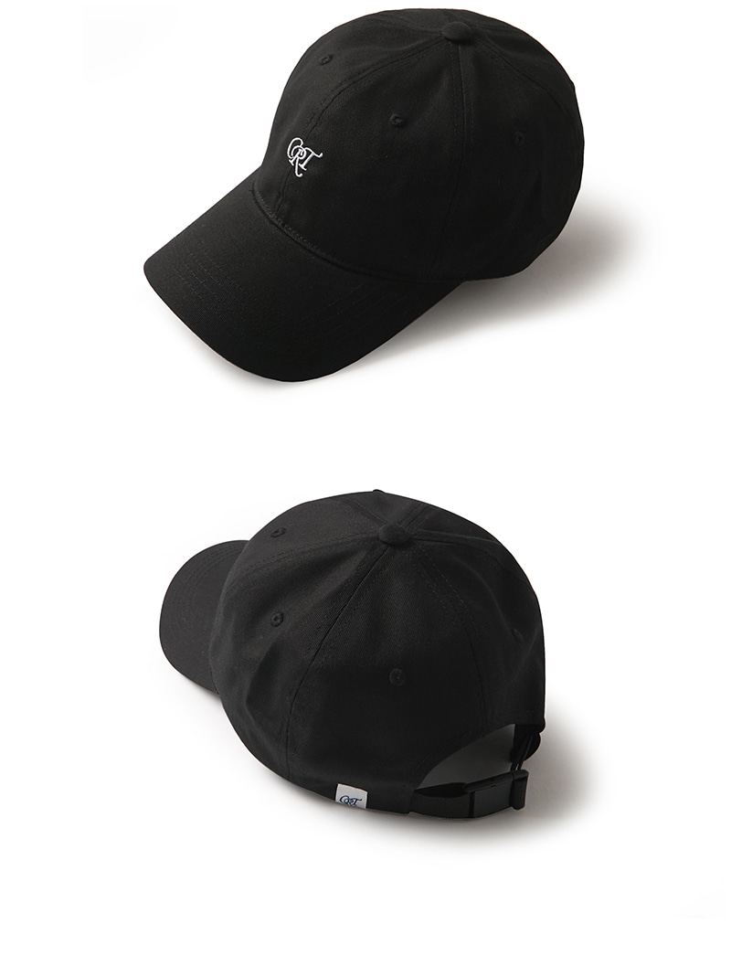 CRT LOGO BALL CAP(BLACK)_CRONPHW01UC6