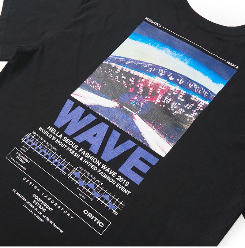 WAVE T-SHIRT(BLACK)_CTONPRS04UC6