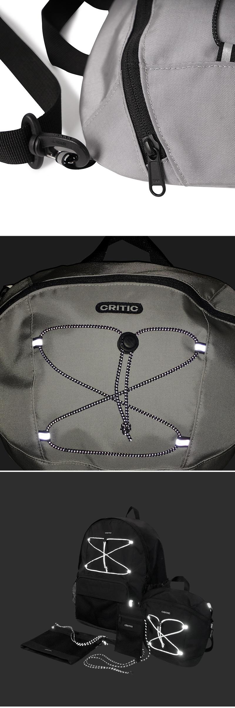 크리틱 CORDURA CROSS BAG(GRAY)_CTONUBG01UC0