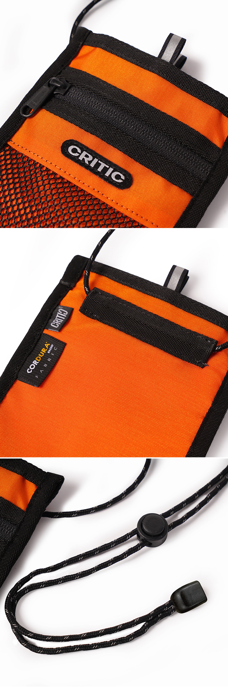 크리틱(CRITIC) CORDURA® PASSPORT BAG(ORANGE)_CTONUBG03UO0
