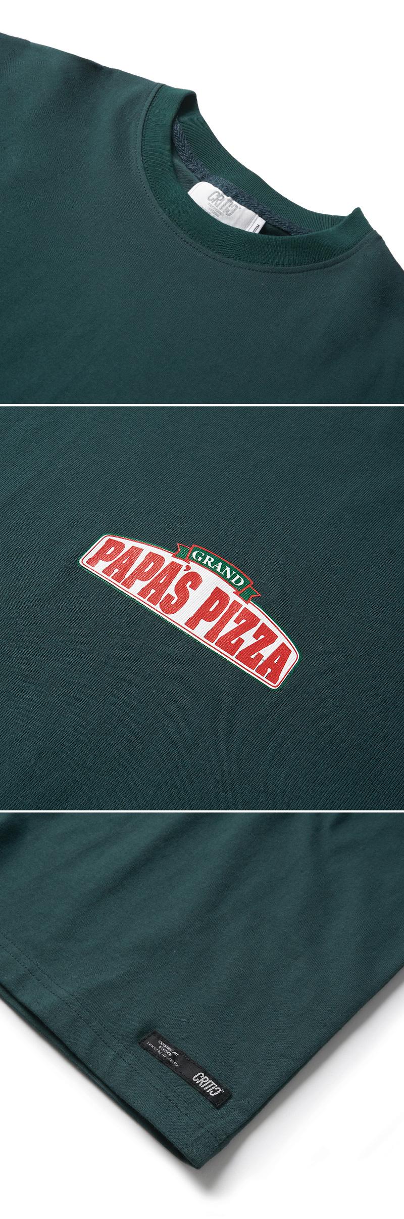 크리틱(CRITIC) PIZZA BOY CHICKEN KILLER T-SHIRT(FOREST GREEN)_CTONURS01UG1