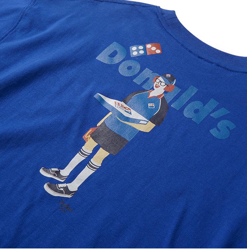 크리틱(CRITIC) PIZZA BOY PSYCHO BUTCHER T-SHIRT(ROYAL BLUE)_CTONURS02UB3