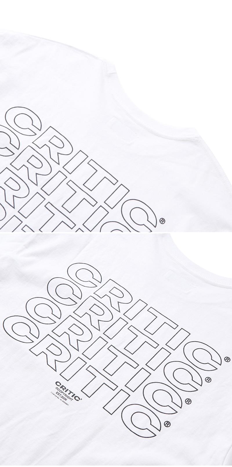 크리틱(CRITIC) MULTI LOGO T-SHIRT(WHITE)_CTONURS03UC2