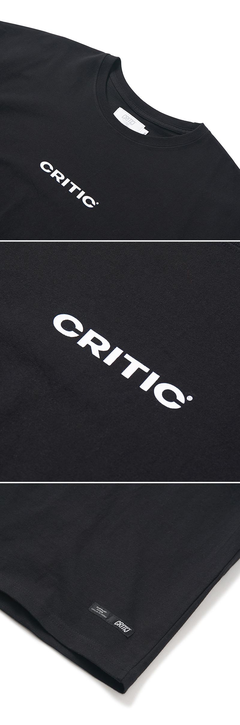 크리틱(CRITIC) MULTI LOGO T-SHIRT(BLACK)_CTONURS03UC6
