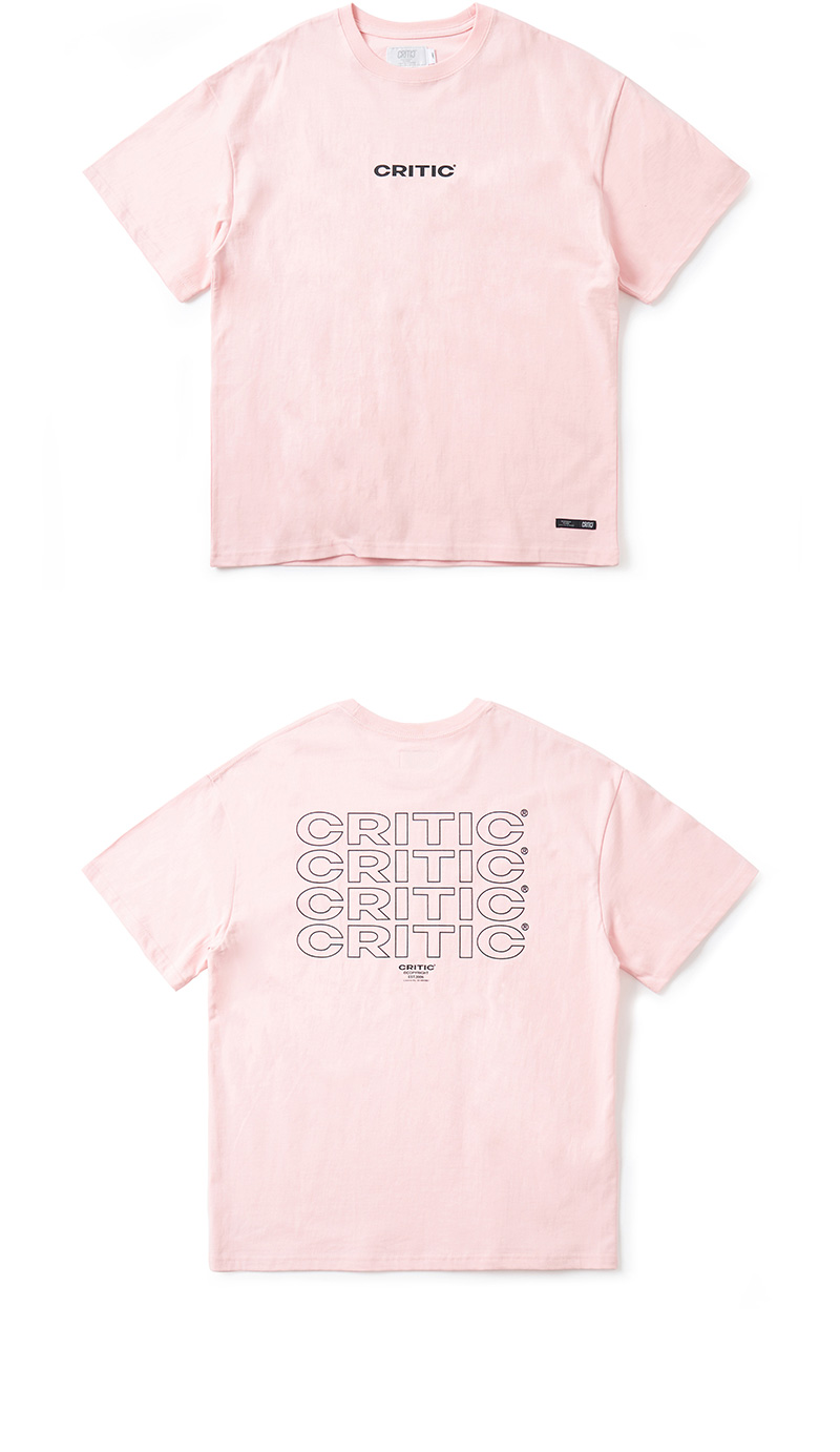 크리틱 MULTI LOGO T-SHIRT(LIGHT PINK)_CTONURS03UP0