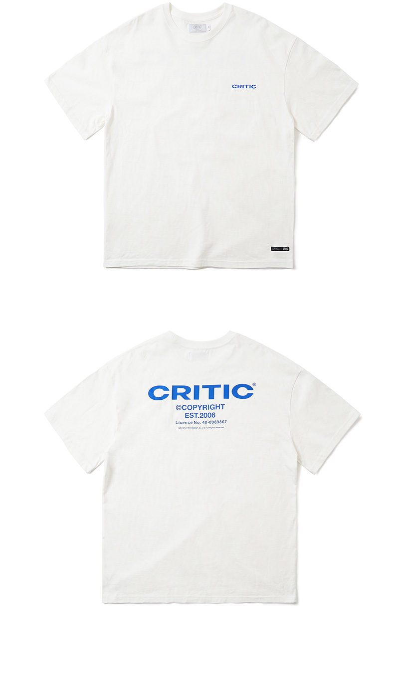 크리틱(CRITIC) BACKSIDE LOGO T-SHIRT(WHITE)_CTONURS11UC2