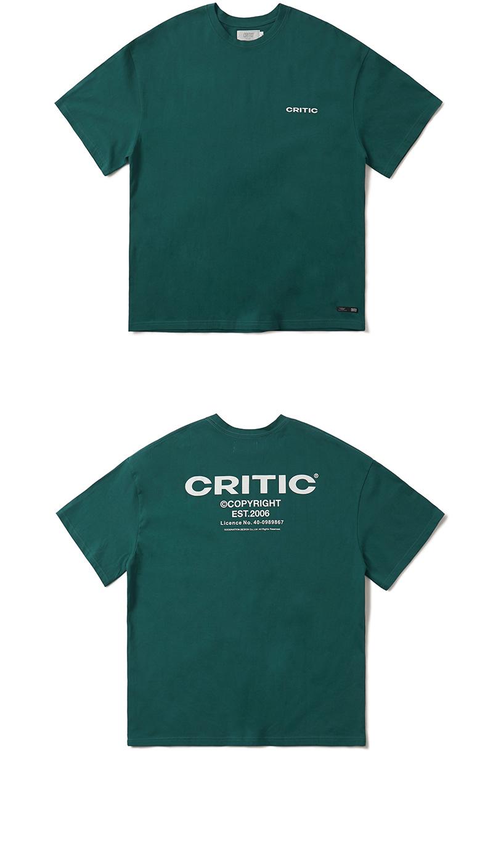 크리틱(CRITIC) BACKSIDE LOGO T-SHIRT(FOREST GREEN)_CTONURS11UG1