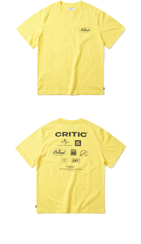 크리틱 DISTRIBUTOR LOGO T-SHIRT(LEMON YELLOW)_CTONURS12UY1