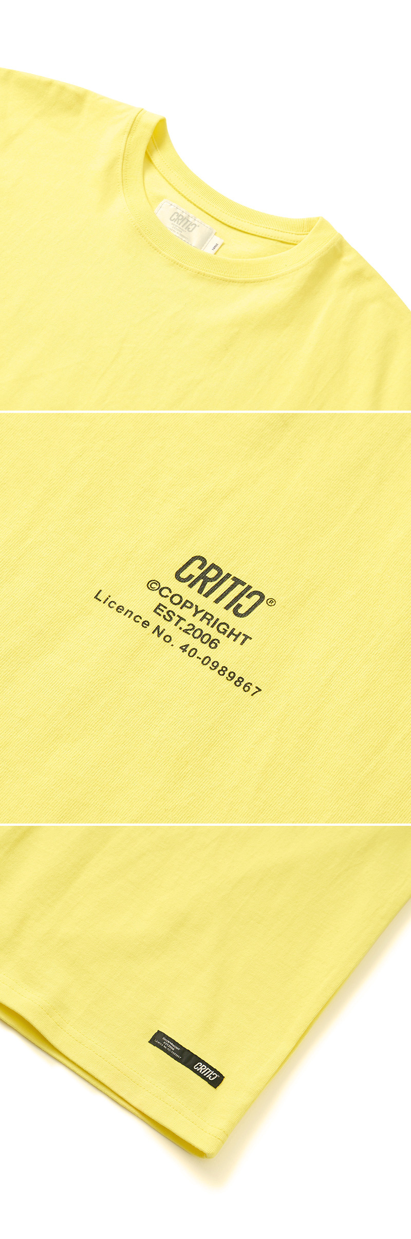 크리틱 METAL LOGO T-SHIRT(LEMON YELLOW)_CTONURS13UY1