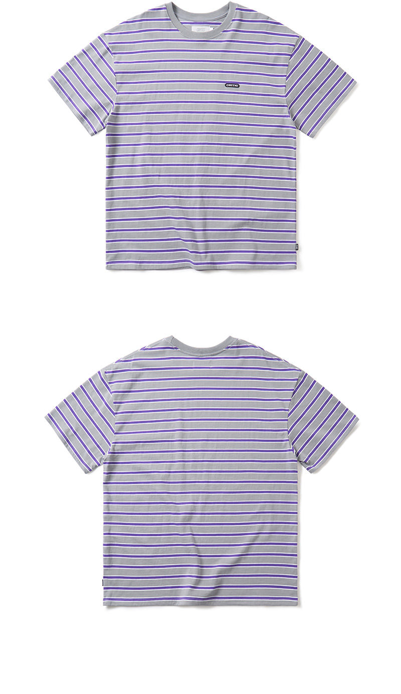 크리틱 STRIPE T-SHIRT(CHARCOAL)_CTONURS17UC1