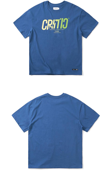 크리틱 GRADATION LOGO T-SHIRT(DARK BLUE)_CTONURS18UB5