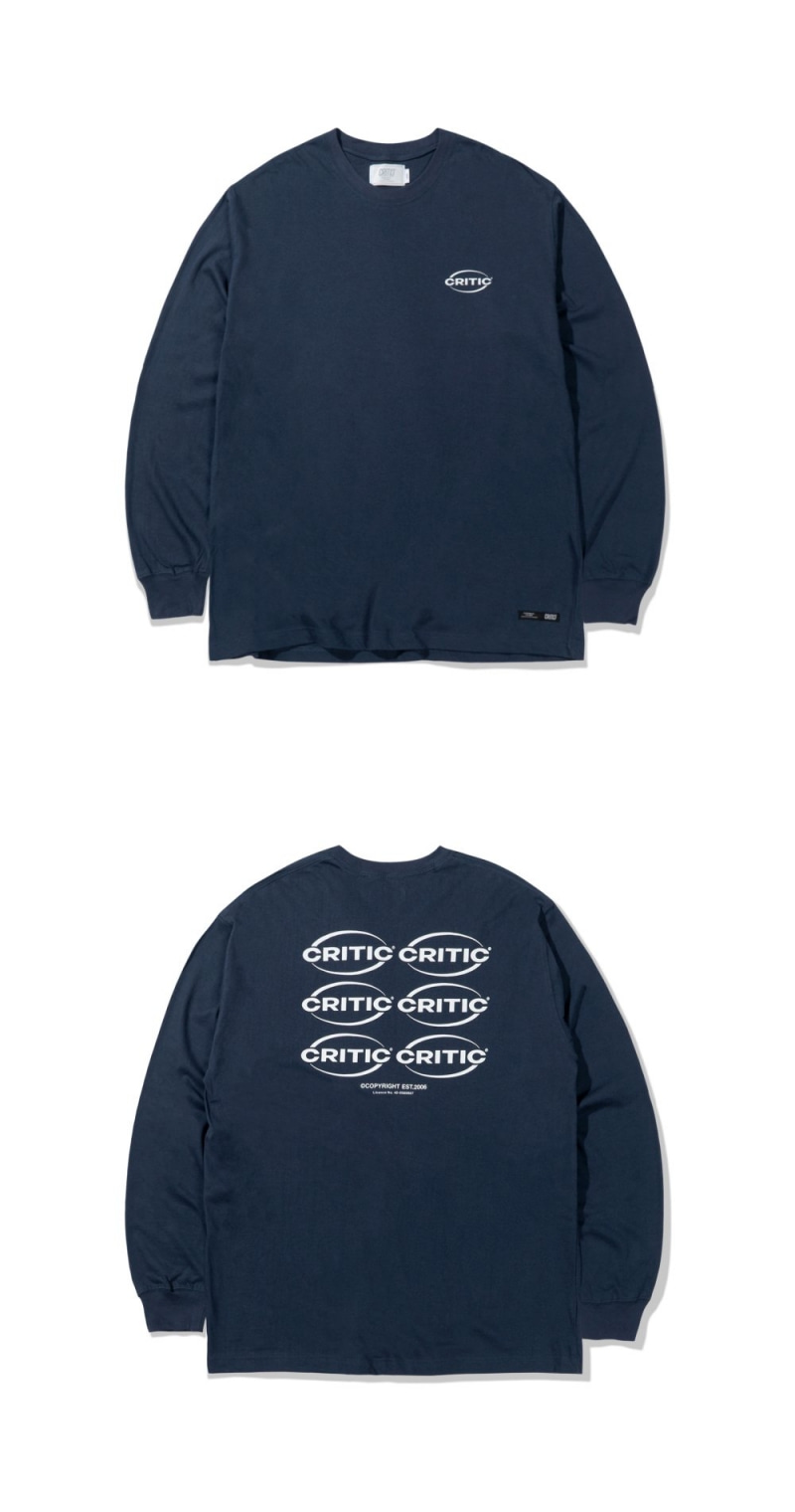 OVAL LOGO LONG SLEEVES(DEEP BLUE)_CTTZARL01UB6