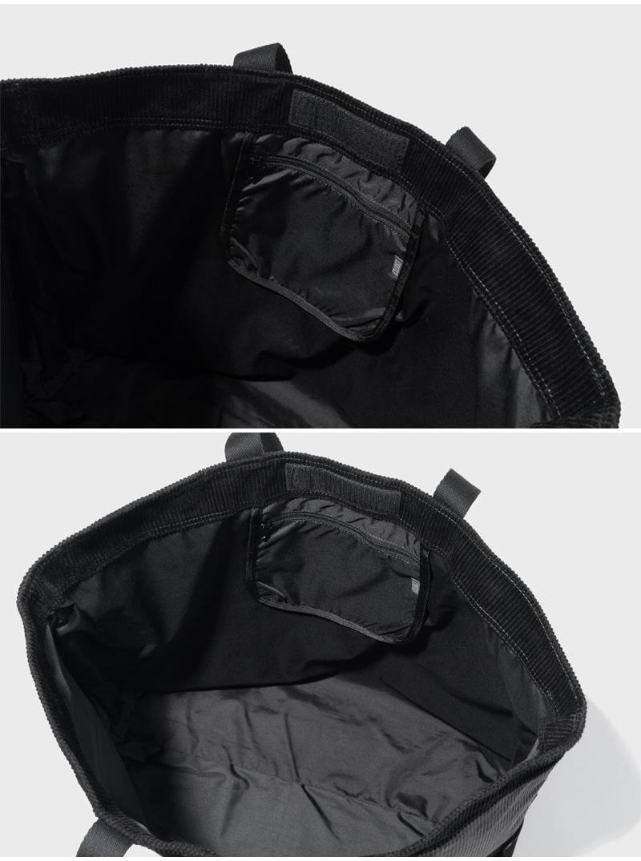CORDUROY COLOR BLOCK TOTE BAG(BLACK)_CTTZABG01UC6