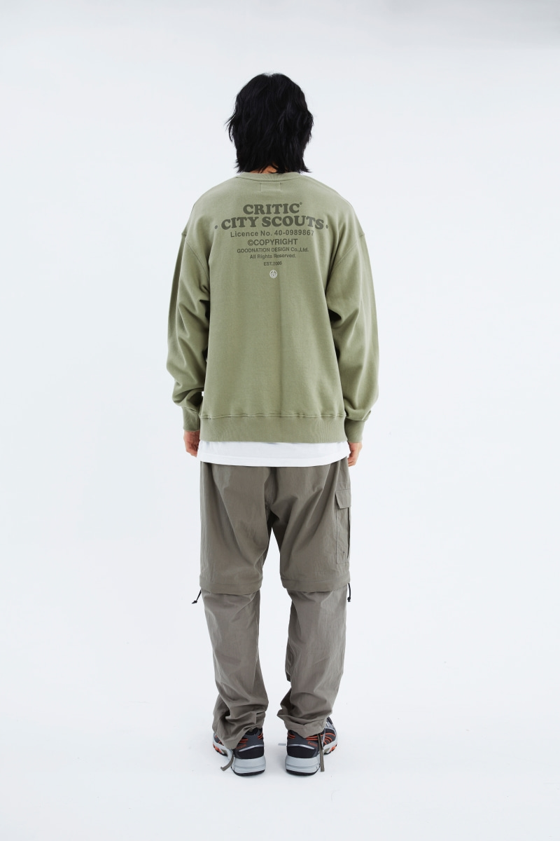 CITY SCOUTS LOGO SWEATSHIRT(KHAKI)_CTTZACR03UK0