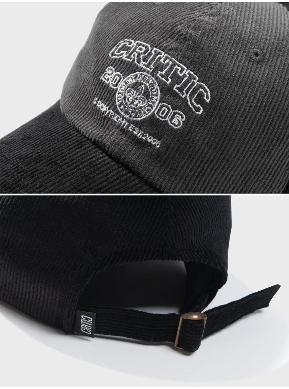 CORDUROY COLOR BLOCK BALL CAP(BLACK)_CTTZAHW02UC6