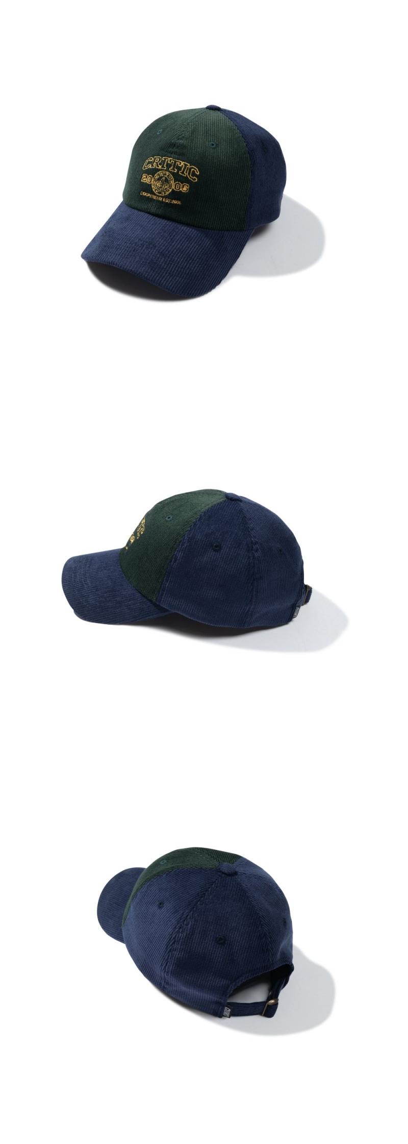 CORDUROY COLOR BLOCK BALL CAP(FOREST GREEN)_CTTZAHW02UG1