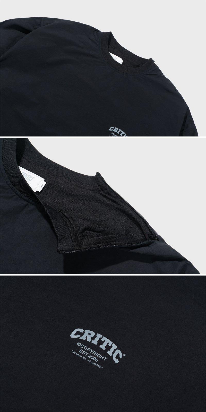 NYLON WARM UP SHIRTS(BLACK)_CTTZICR03UC6