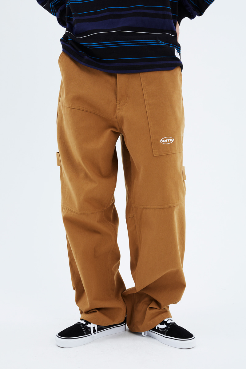 크리틱(CRITIC) HEAVY WORK PANTS(BROWN)_CTTZIPT01UE2